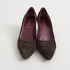 Prada Brown Suede Pointed Toe Pumps