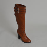 Chloe Brown Leather Knee High Boots
