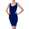 Diane Von Furstenberg Cobalt Blue Tiered Hem Dress