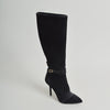 Dolce & Gabbana Black Suede Knee-High Boots