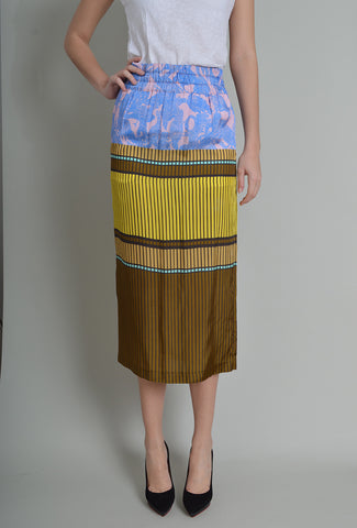 Dries Van Noten Printed Midi Skirt