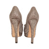Fendi Metallic Peep-Toe Platform Pumps