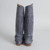 Ralph Lauren Grey Suede Knee High Boots