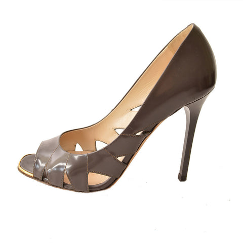 Jimmy Choo Open-Toe Pump with Cut-Outs
