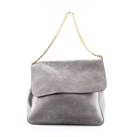 Céline 'Gourmette' Suede Shoulder Bag