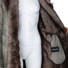 Giorgio Armani for Holt Renfrew Leather with Fur Floor Length Coat