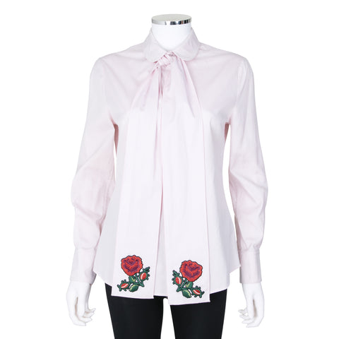 Gucci Long Pale Pink Blouse with Bow