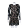 Gucci Long Sleeve Lace Mini Dress