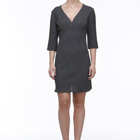 Miu Miu Grey Wool Dress
