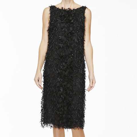 Oscar de la Renta Sleeveless 'Ribbon' Dress
