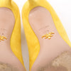 Prada Yellow Suede Pointed Pumps