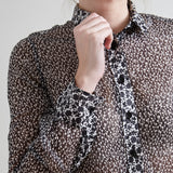 D&G Black and White Floral Blouse