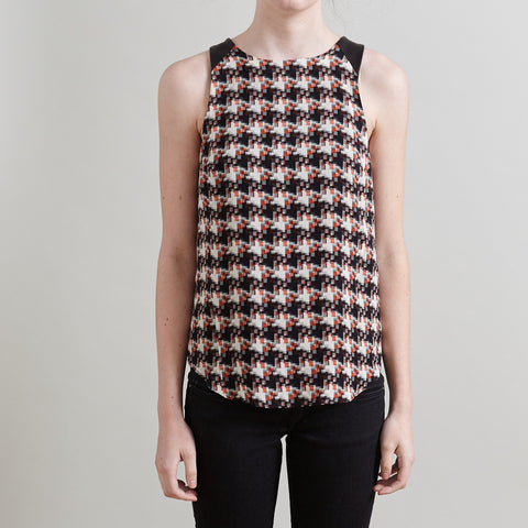 Rag & Bone Sleeveless Multicolor Geometric Pattern Top