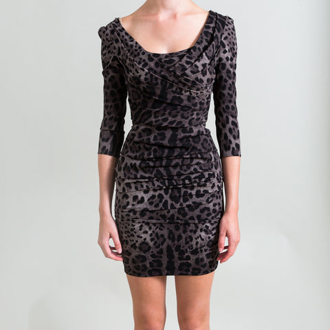 Dolce & Gabbana Leopard Print Silk Dress