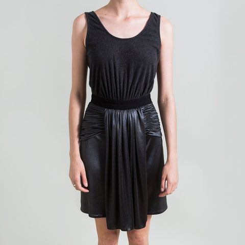 Alexander Wang Grey Metallic Skirt Dress