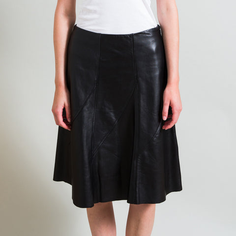 Rag & Bone Leather Fit and Flare Skirt