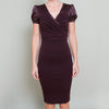 Dolce & Gabbana Burgundy Wool & Silk Wrap Dress