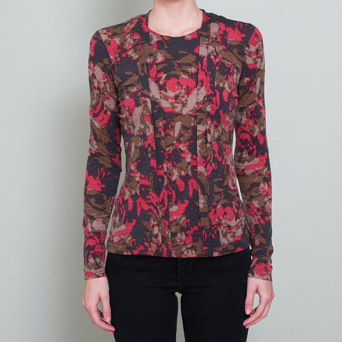 Etro Abstract Floral Long-Sleeved Top