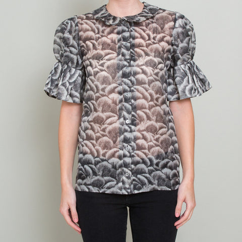 Stella McCartney Printed Silk Sheer Blouse