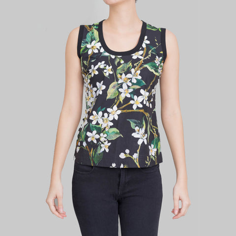 Dolce & Gabbana Floral Printed Sleeveless Top