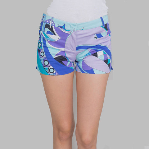 Emilio Pucci Signature Print Fitted Shorts