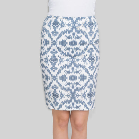 Peserico Pencil Skirt with Abstract Print