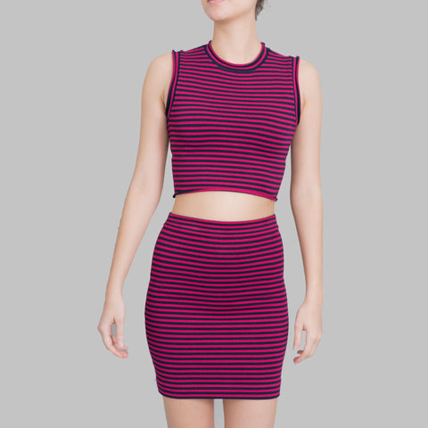 A.L.C. Striped Knit Skirt Set