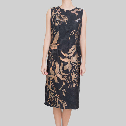 Lafayette 148 New York Monet Metallic Floral Sheath