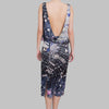 Giles Open-Back Dress With Jewelry Print
