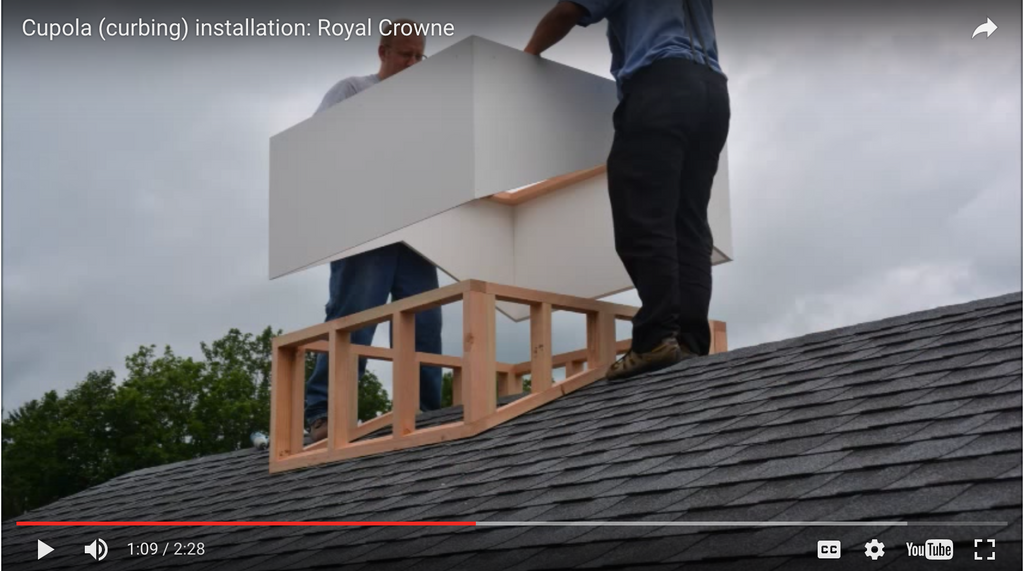 How to Install Cupolas 60 Inches or Larger