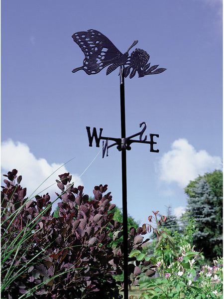 Whitehall Butterfly Garden Weathervane, Black