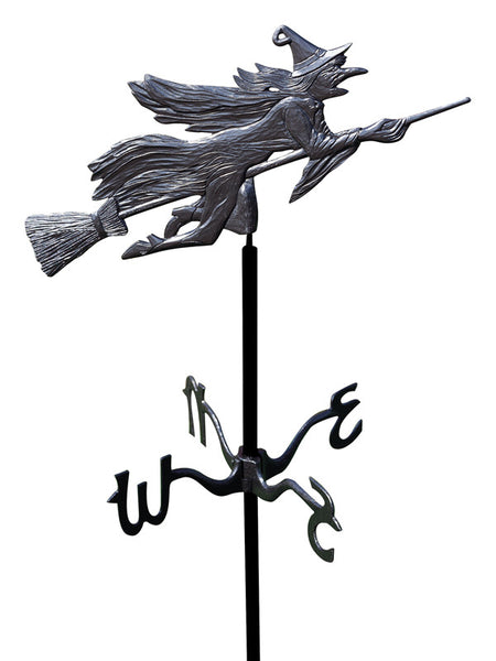 Whitehall Flying Witch Garden Weathervane, Black