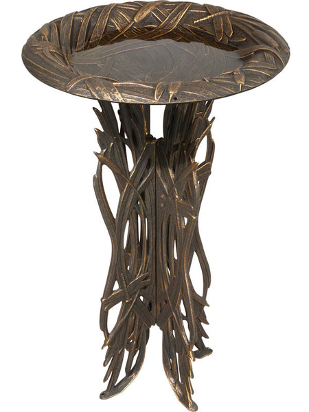 Whitehall Dragon Birdbath & Pedestal Copper Verdi