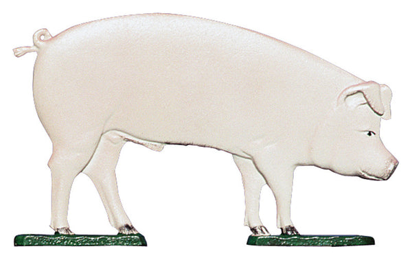 Whitehall 30 Inch Pig Weathervane Rooftop Color