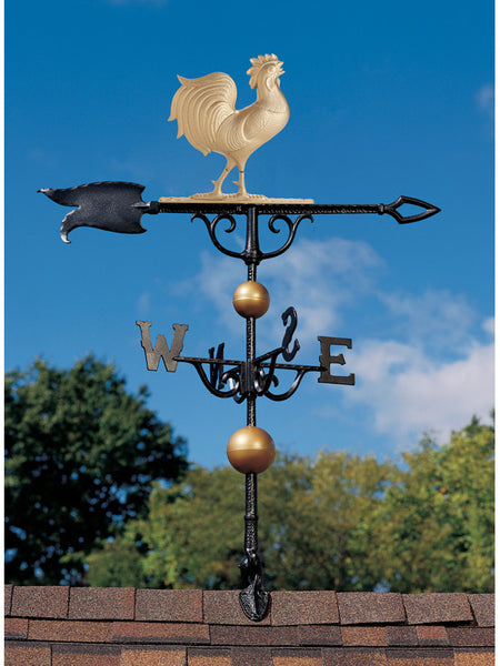 "Whitehall Full-Bodied 46"" Rooster Weathervane"