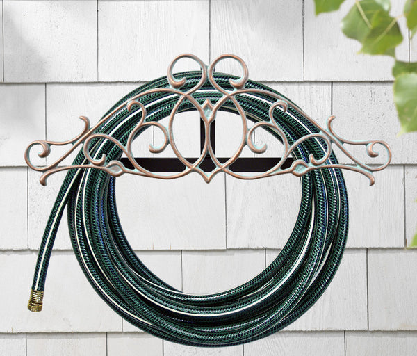 Whitehall Tendril Hose Holder Copper Verdi