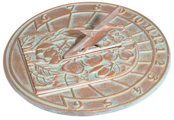 Whitehall Hummingbird Sundial Copper Verdi