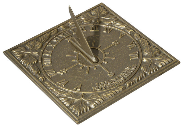 Whitehall Sunny Hours Sundial French Bronze