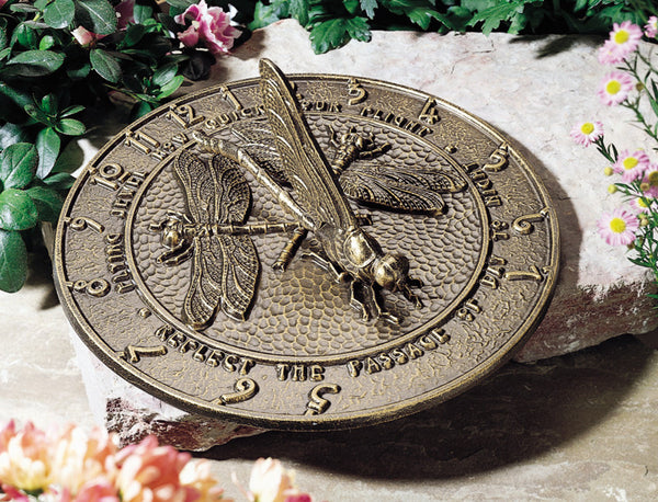 Whitehall Dragonfly Sundial French Bronze