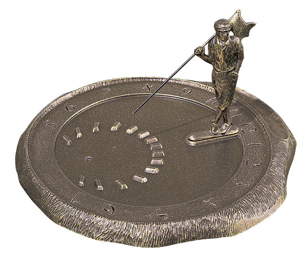 Whitehall Golfer Sundial French Bronze