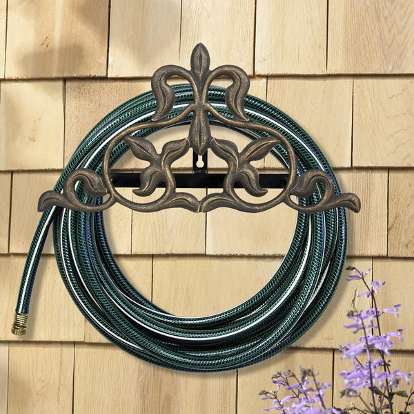 Whitehall Fleur-De-Lis Hose Holder French Bronze