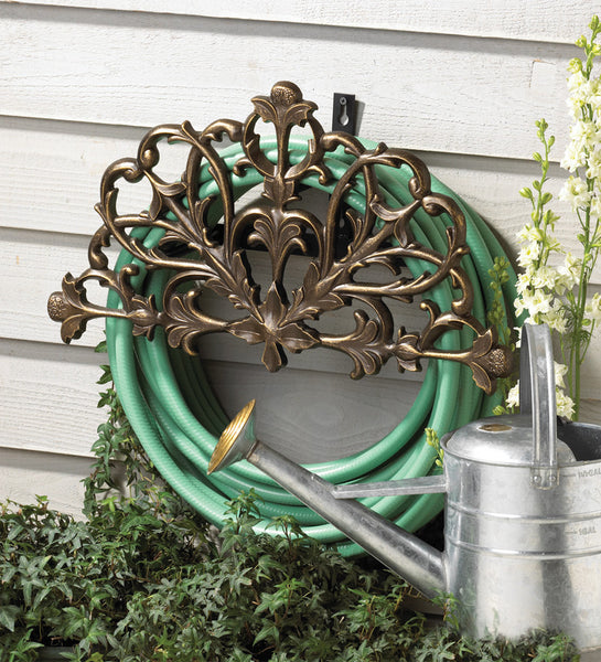 Whitehall Filigree Hose Holder French Bronze