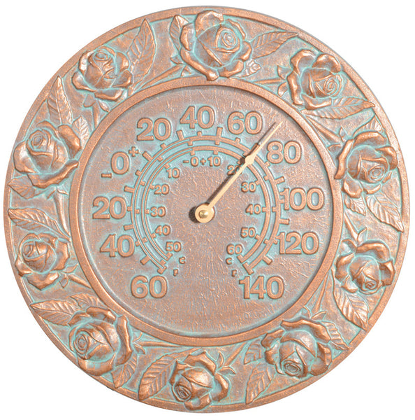 Whitehall Rose Thermometer Copper Verdi