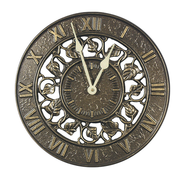 Whitehall Ivy Silhouette Clock French Bronze