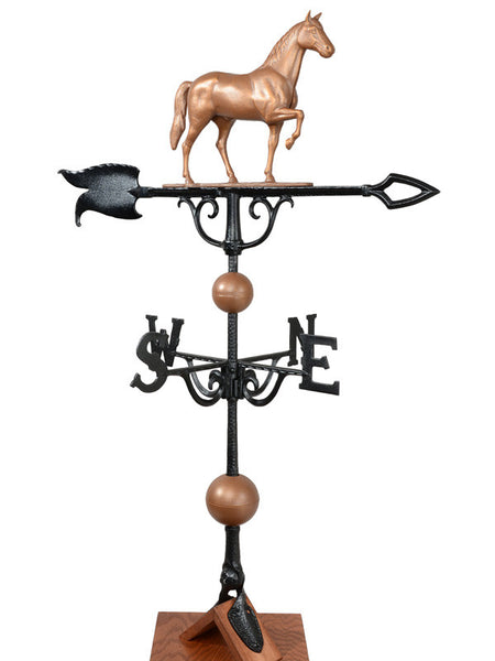 Whitehall 46 inch Full Bodied Horse Weathervane Copper