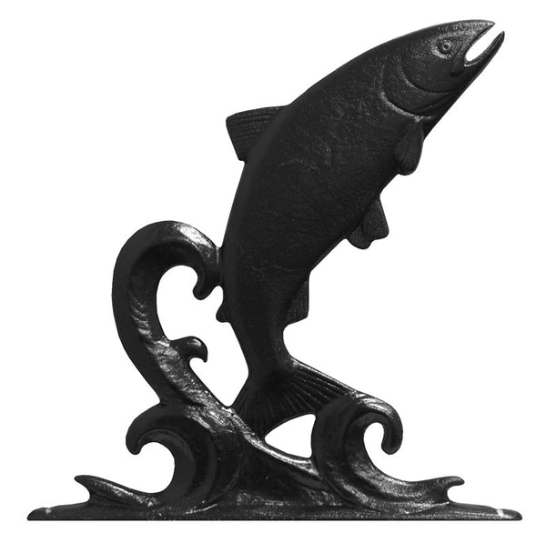 Whitehall Trout Garden Weathervane, Black