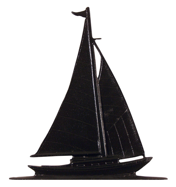 Whitehall 30 Inch Sailboat Weathervane Rooftop Black