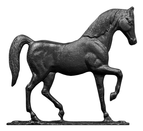 Whitehall 30 Inch Horse Weathervane Rooftop Black