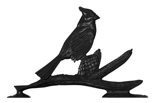 Whitehall 30 Inch Cardinal Weathervane Rooftop Black