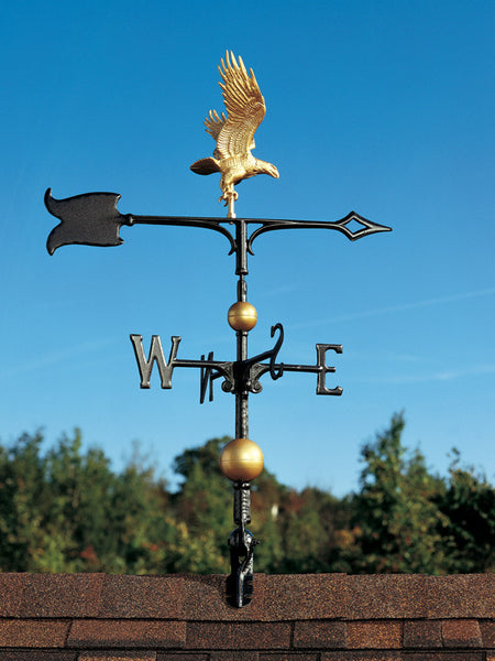 Whitehall 30 Inch Full-Bodied Eagle Weathervane Gold-Bronze